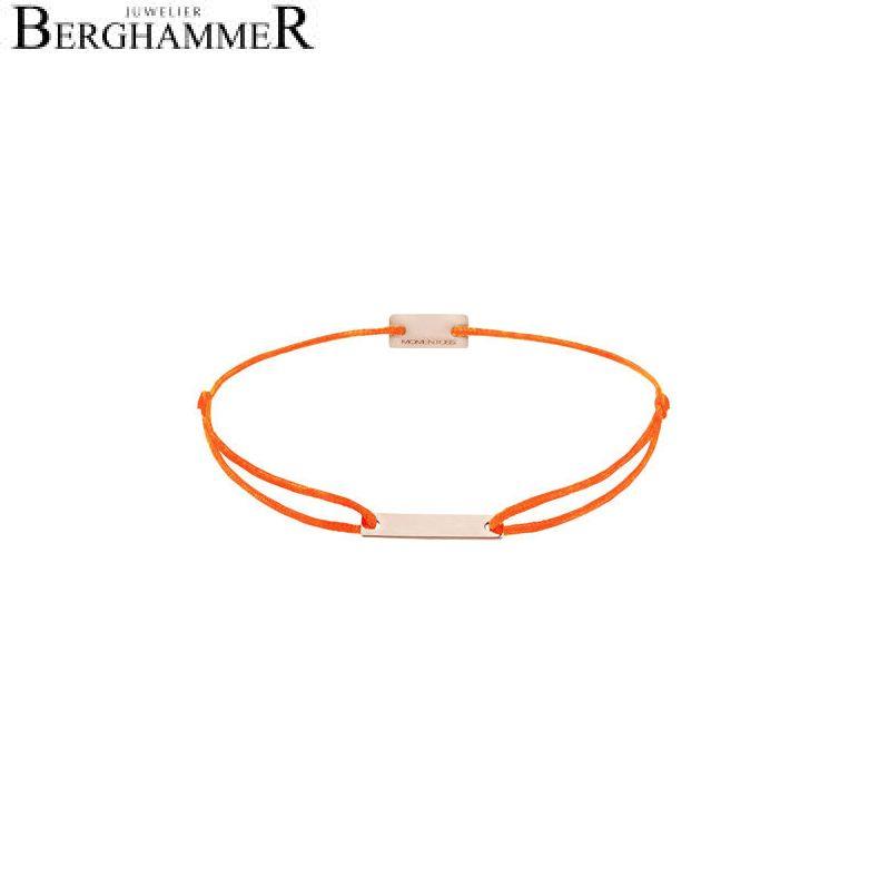 Filo Armband Textil Neon-Orange 750 Gold roségold 21200547