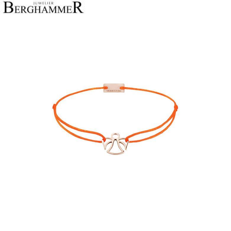 Filo Armband Textil Neon-Orange Engel 925 Silber roségold vergoldet 21200625