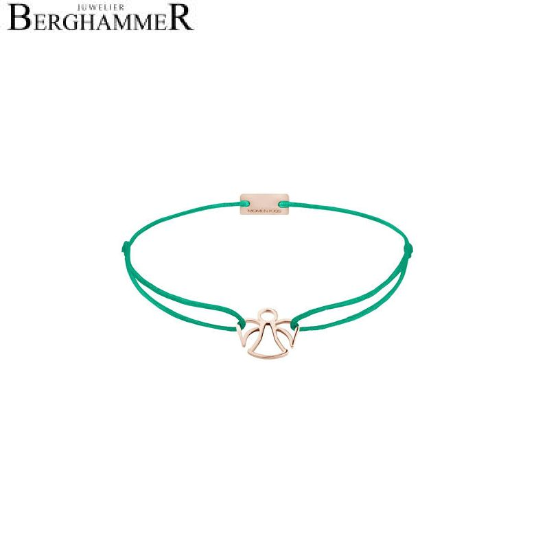 Filo Armband Textil Grasgrün Engel 925 Silber roségold vergoldet 21200627