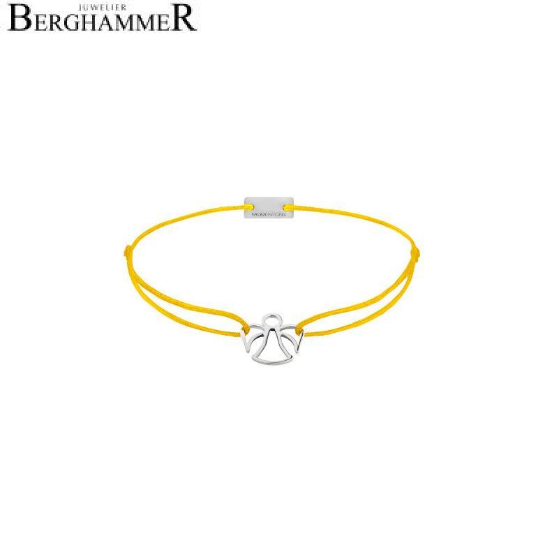 Filo Armband Textil Gelb Engel 925 Silber rhodiniert 21200631