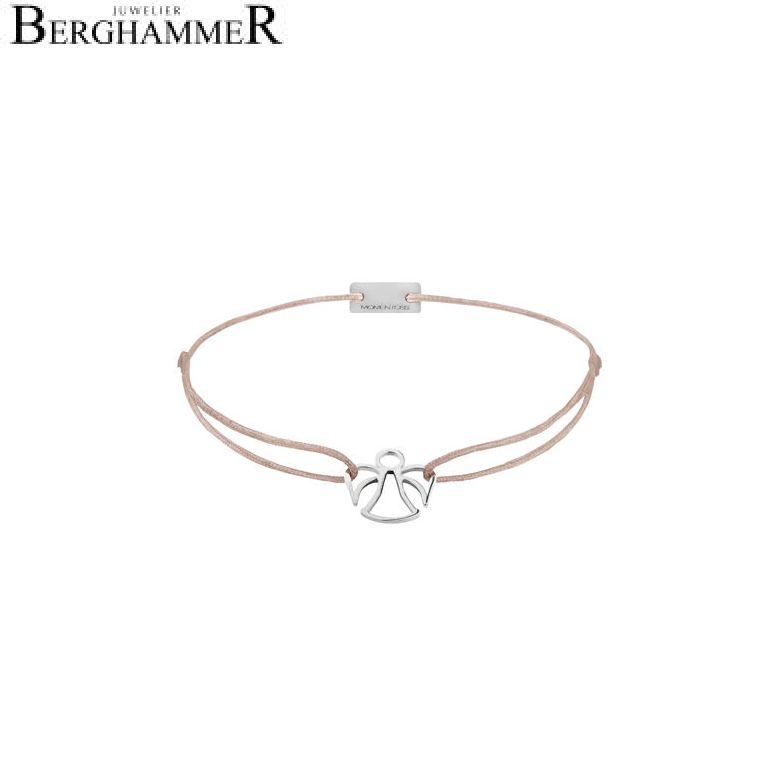 Filo Armband Textil Beige Engel 925 Silber rhodiniert 21200632