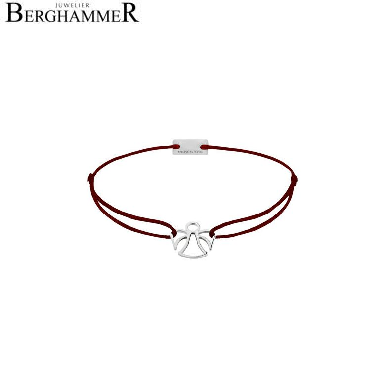 Filo Armband Textil Braun Engel 925 Silber rhodiniert 21200633