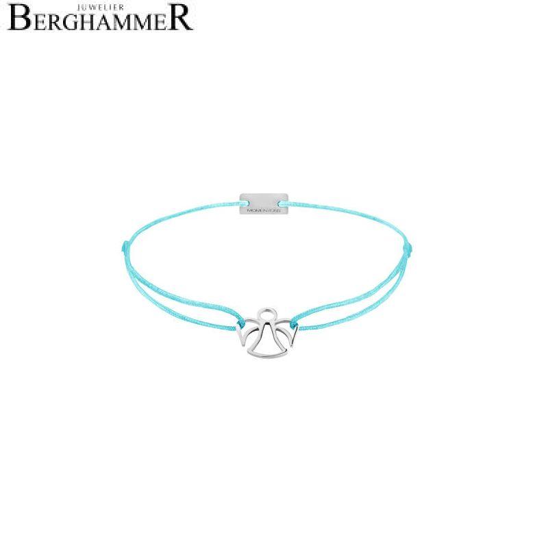 Filo Armband Textil Hellblau Engel 925 Silber rhodiniert 21200640