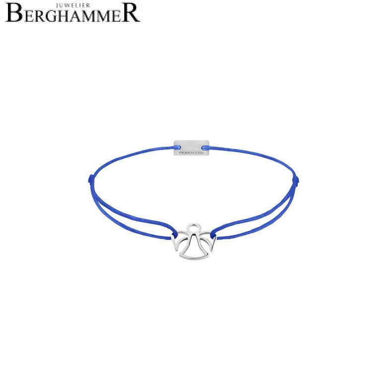 Filo Armband Textil Blitzblau Engel 925 Silber rhodiniert 21200641