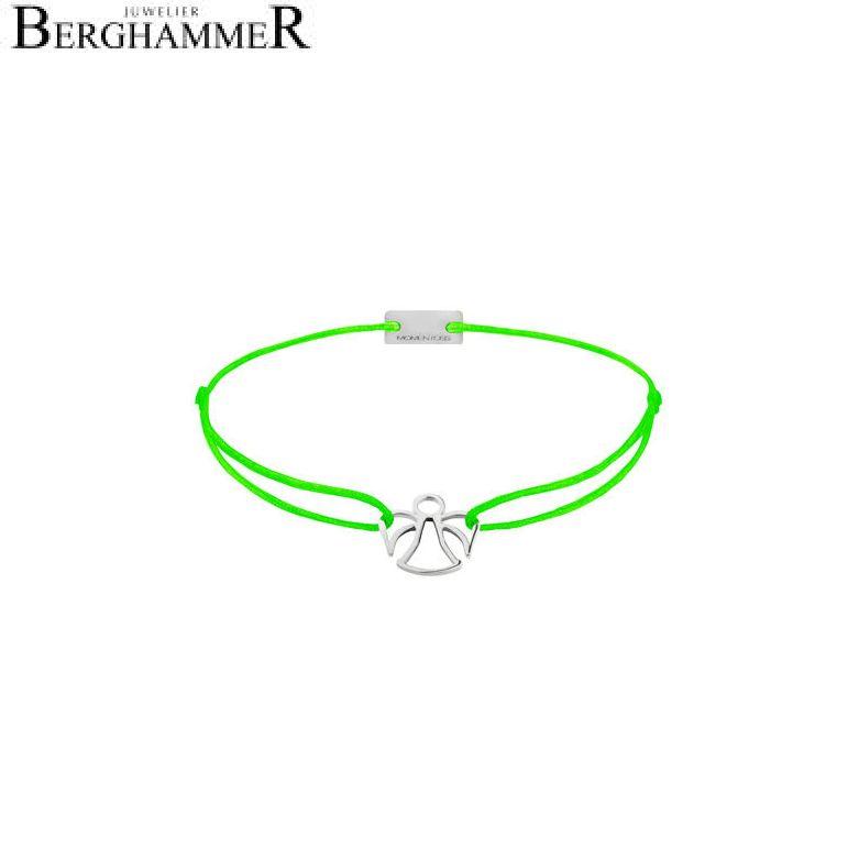 Filo Armband Textil Neon-Grün Engel 925 Silber rhodiniert 21200649