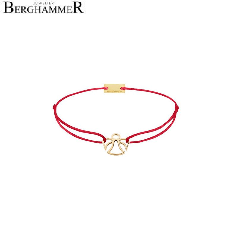 Filo Armband Textil Rot Engel 925 Silber gelbgold vergoldet 21200651