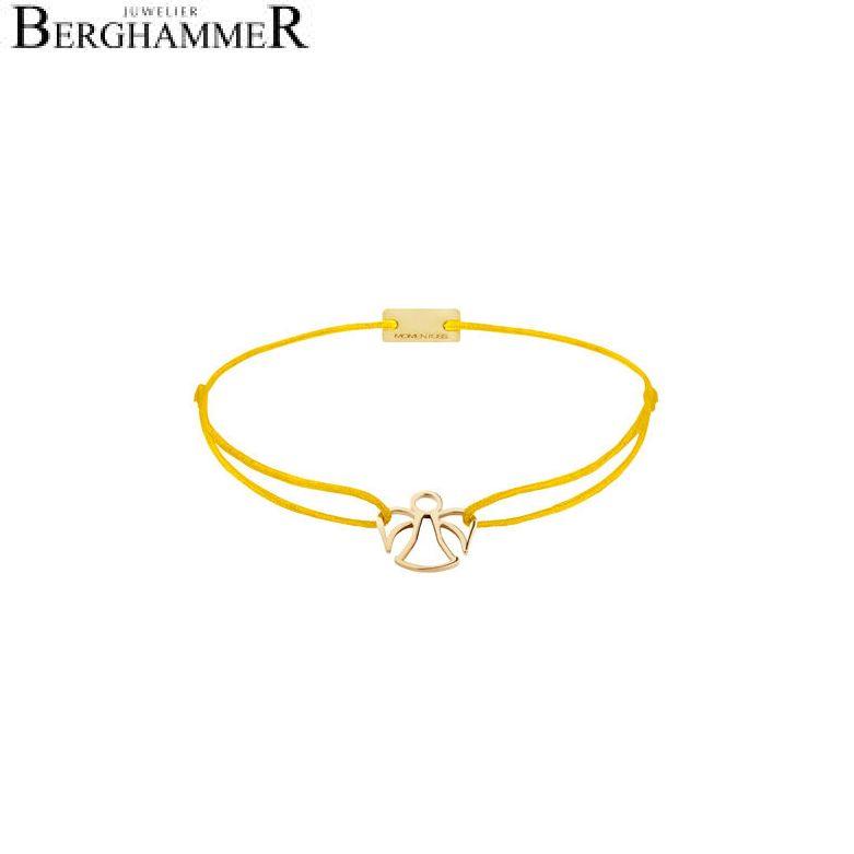 Filo Armband Textil Gelb Engel 925 Silber gelbgold vergoldet 21200656