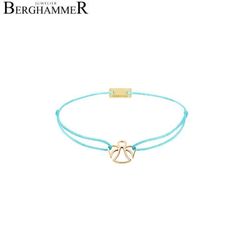 Filo Armband Textil Hellblau Engel 925 Silber gelbgold vergoldet 21200664