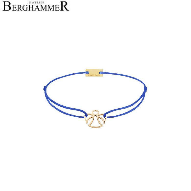 Filo Armband Textil Blitzblau Engel 925 Silber gelbgold vergoldet 21200665