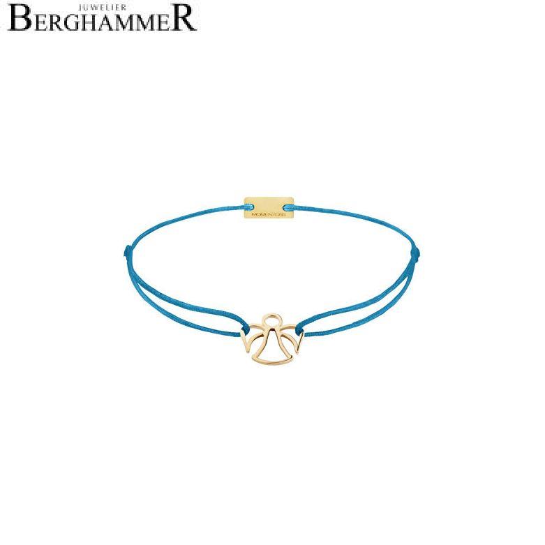 Filo Armband Textil Petrol Engel 925 Silber gelbgold vergoldet 21200667