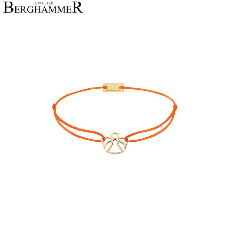 Filo Armband Textil Neon-Orange Engel 925 Silber gelbgold vergoldet 21200672