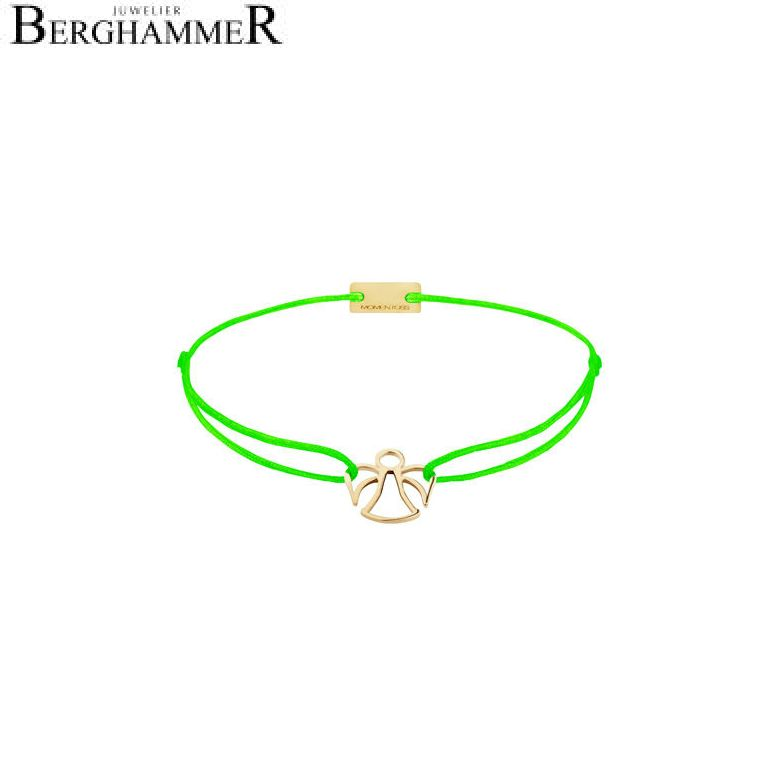 Filo Armband Textil Neon-Grün Engel 925 Silber gelbgold vergoldet 21200673