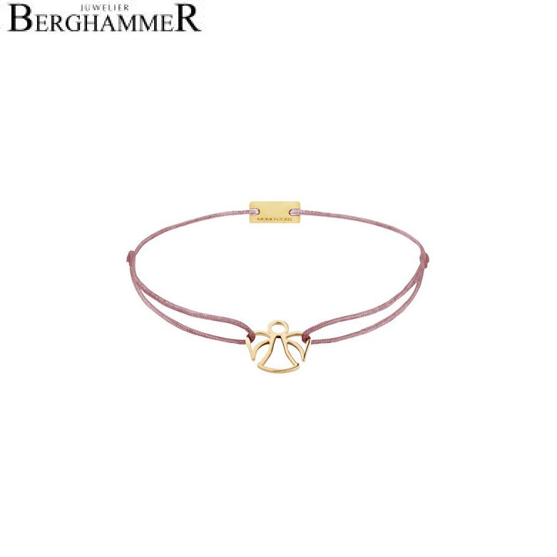 Filo Armband Textil Camel Engel 925 Silber gelbgold vergoldet 21200674