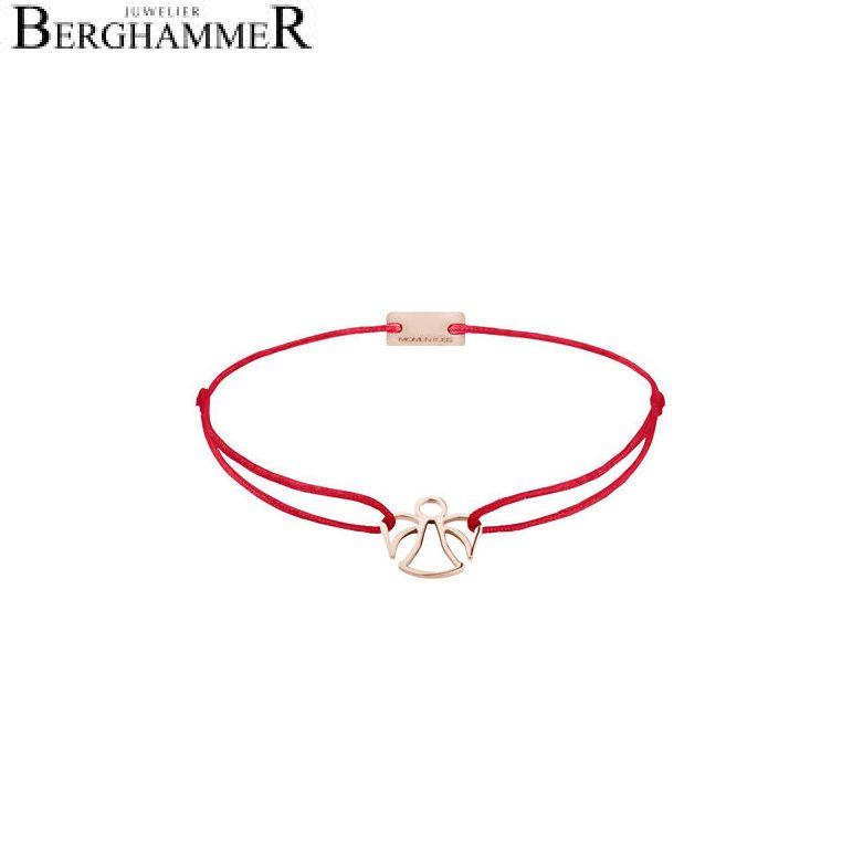 Filo Armband Textil Rot Engel 925 Silber roségold vergoldet 21200675