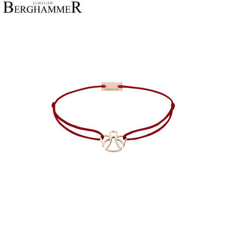 Filo Armband Textil Weinrot Engel 925 Silber roségold vergoldet 21200679