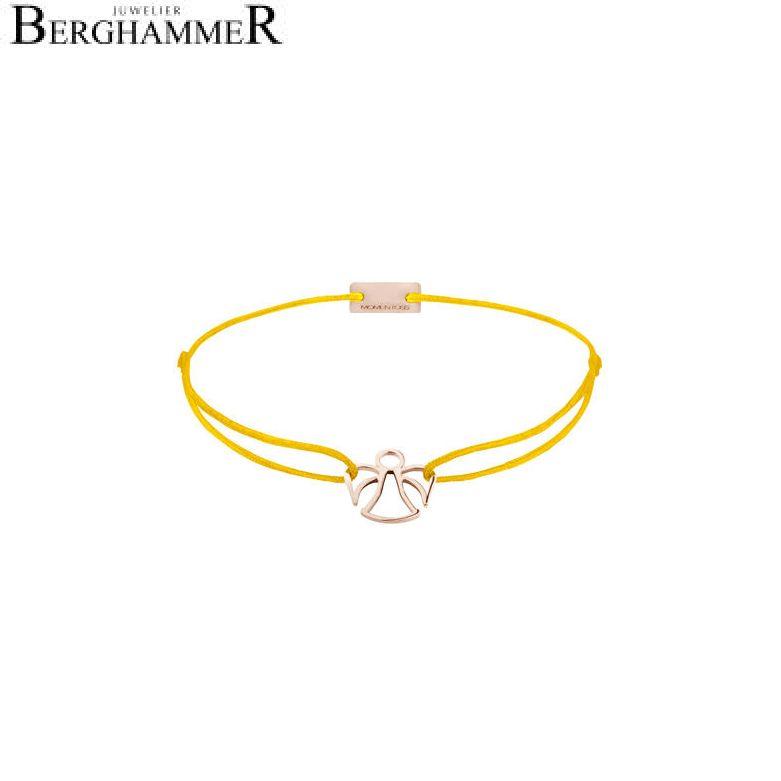 Filo Armband Textil Gelb Engel 925 Silber roségold vergoldet 21200680