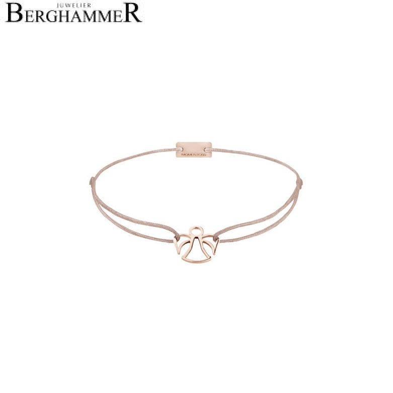 Filo Armband Textil Beige Engel 925 Silber roségold vergoldet 21200681
