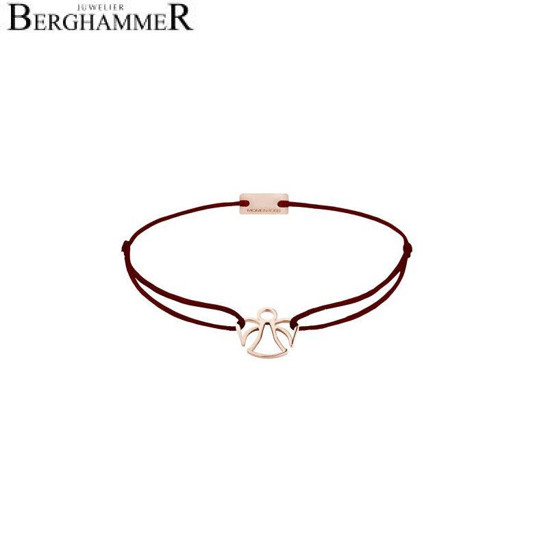 Filo Armband Textil Braun Engel 925 Silber roségold vergoldet 21200682