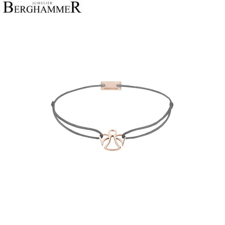 Filo Armband Textil Anthrazit Engel 925 Silber roségold vergoldet 21200684