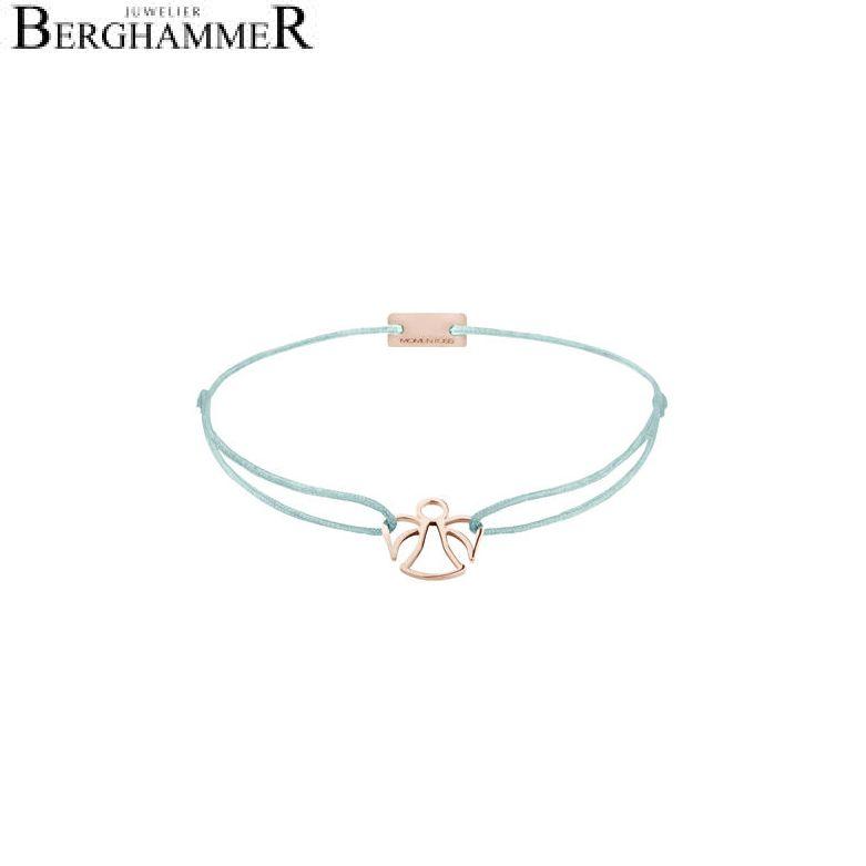 Filo Armband Textil Türkis Engel 925 Silber roségold vergoldet 21200688
