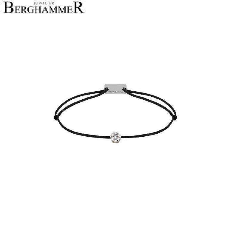 Filo Armband Textil Schwarz 750 Gold weißgold 21201052