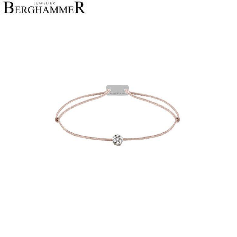 Filo Armband Textil Beige 750 Gold weißgold 21201058