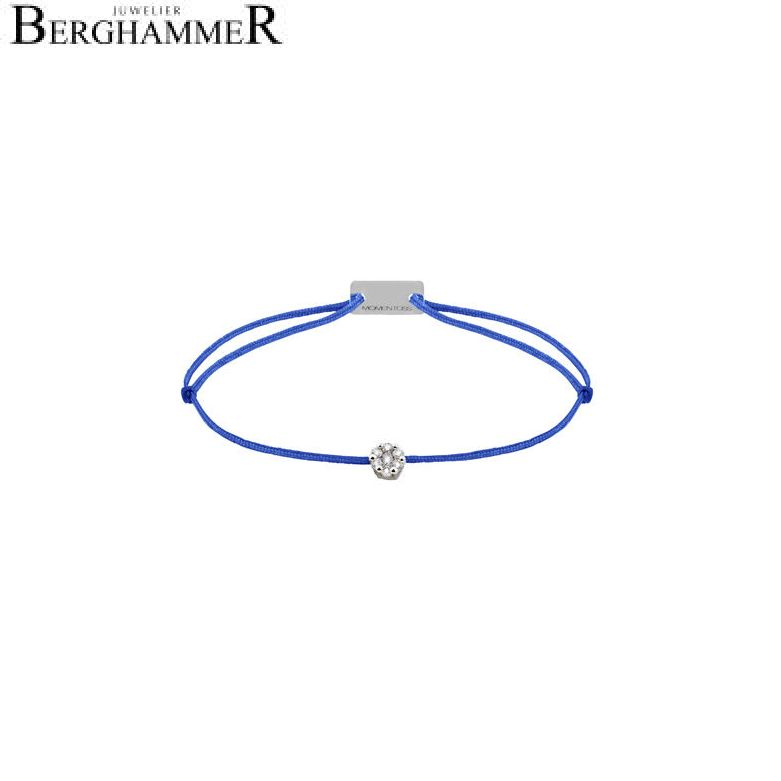 Filo Armband Textil Blitzblau 750 Gold weißgold 21201069