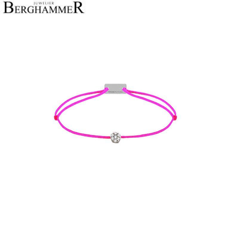 Filo Armband Textil Neon-Pink 750 Gold weißgold 21201081