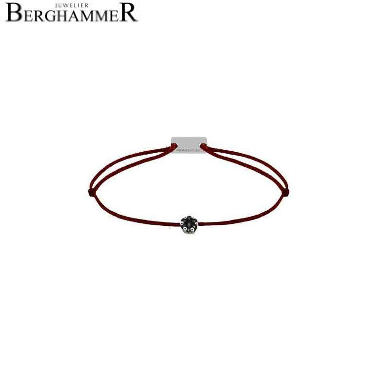Filo Armband Textil Braun 750 Gold weißgold 21201100