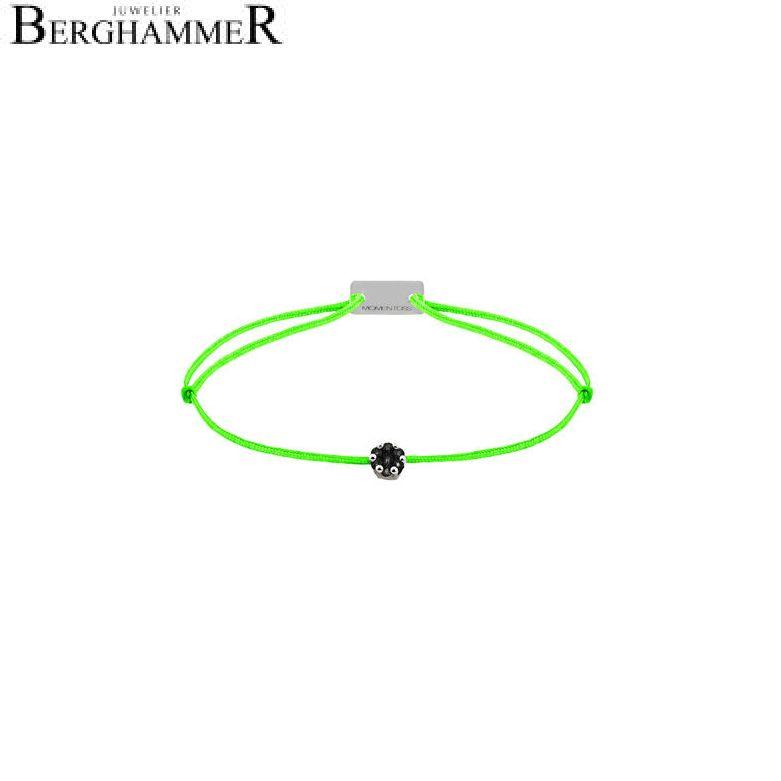 Filo Armband Textil Neon-Grün 750 Gold weißgold 21201117