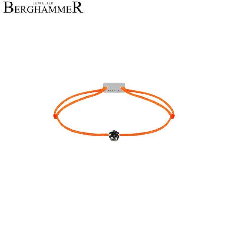 Filo Armband Textil Neon-Orange 750 Gold weißgold 21201126