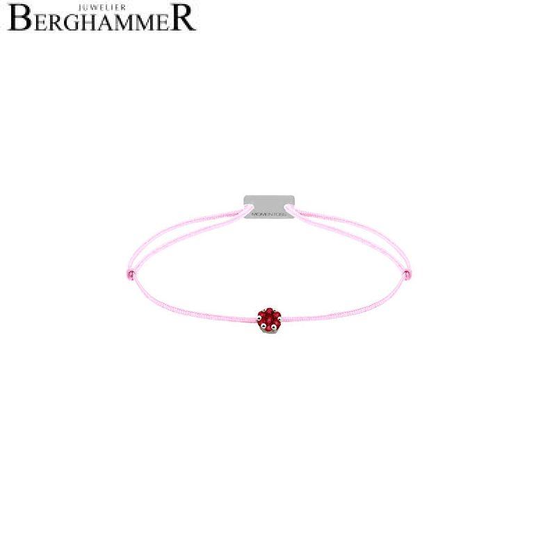 Filo Armband Textil Rosa 750 Gold weißgold 21201137