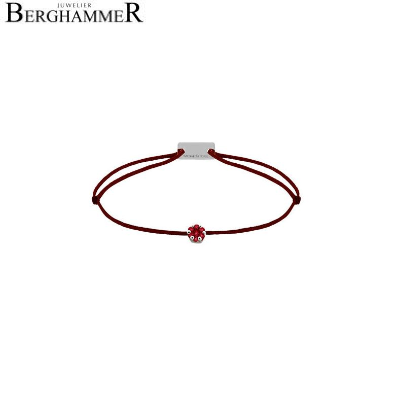 Filo Armband Textil Braun 750 Gold weißgold 21201143