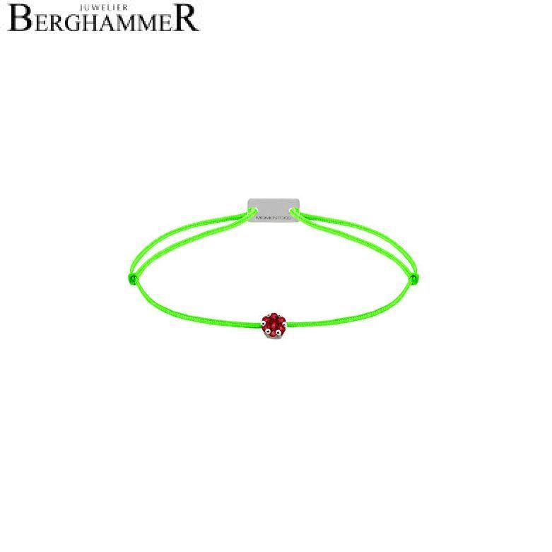 Filo Armband Textil Neon-Grün 750 Gold weißgold 21201154