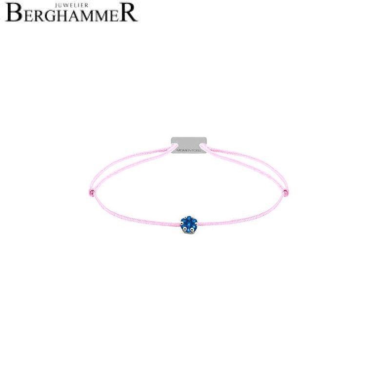 Filo Armband Textil Rosa 750 Gold weißgold 21201163