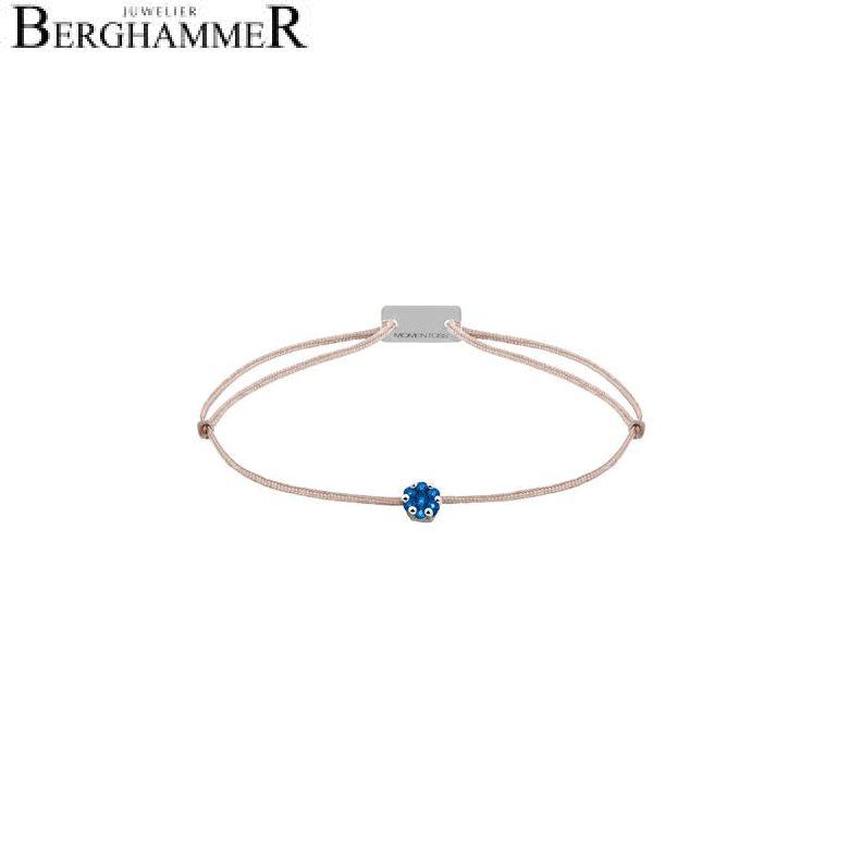 Filo Armband Textil Beige 750 Gold weißgold 21201167