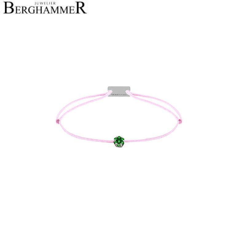 Filo Armband Textil Rosa 750 Gold weißgold 21201187