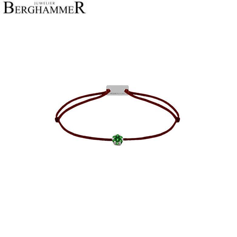 Filo Armband Textil Braun 750 Gold weißgold 21201191