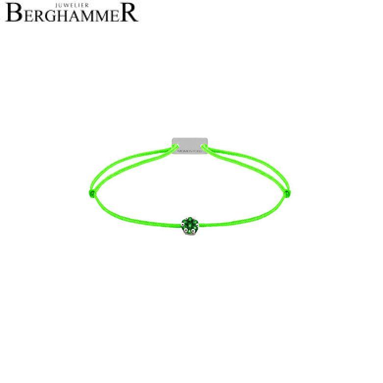 Filo Armband Textil Neon-Grün 750 Gold weißgold 21201202