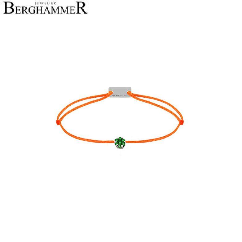 Filo Armband Textil Neon-Orange 750 Gold weißgold 21201207