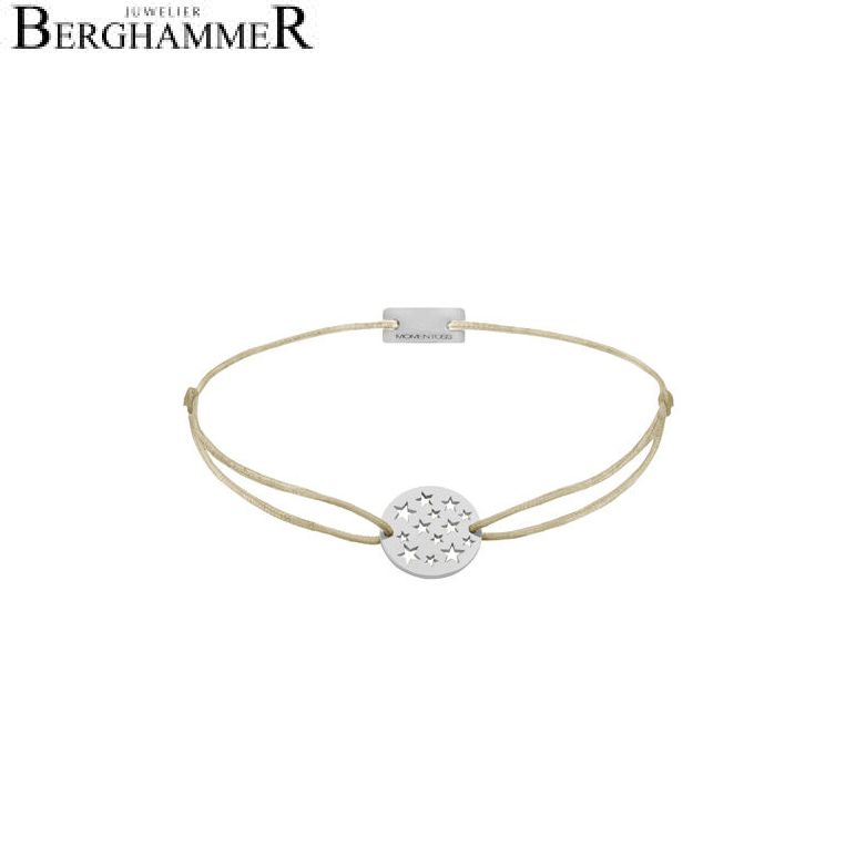 Filo Armband Textil Champagne Sterne 925 Silber rhodiniert 21202600