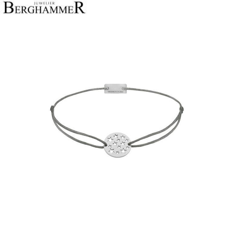 Filo Armband Textil Anthrazit Sterne 925 Silber rhodiniert 21202607