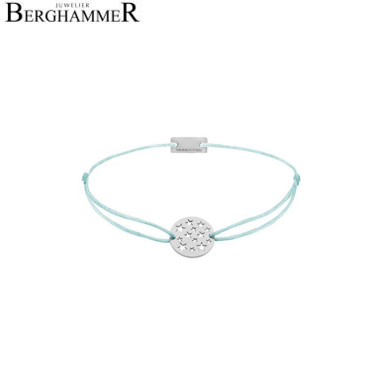 Filo Armband Textil Mint Sterne 925 Silber rhodiniert 21202609