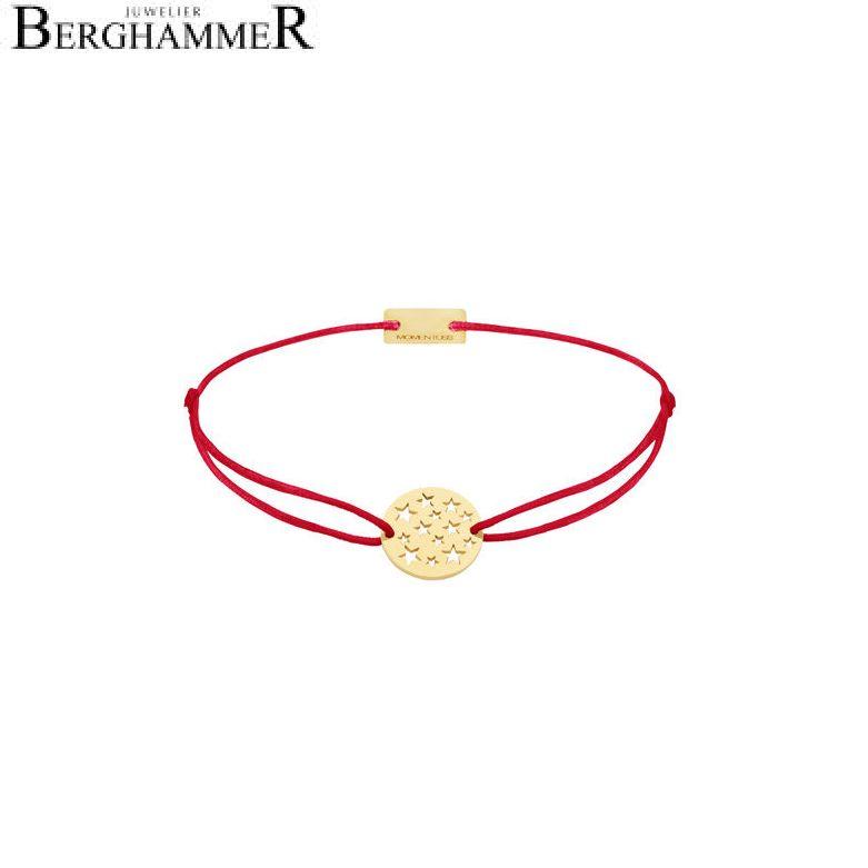 Filo Armband Textil Rot Sterne 925 Silber gelbgold vergoldet 21202622