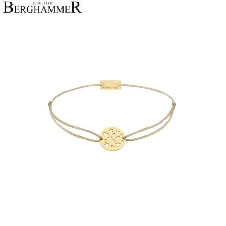 Filo Armband Textil Champagne Sterne 925 Silber gelbgold vergoldet 21202624
