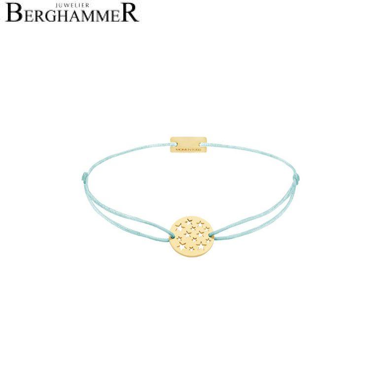 Filo Armband Textil Mint Sterne 925 Silber gelbgold vergoldet 21202633
