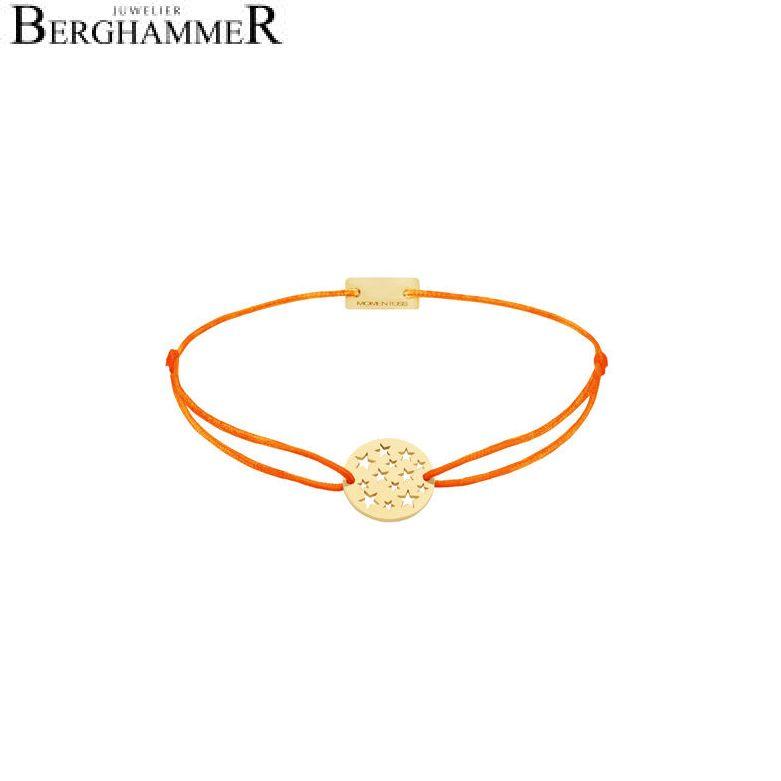 Filo Armband Textil Neon-Orange Sterne 925 Silber gelbgold vergoldet 21202645
