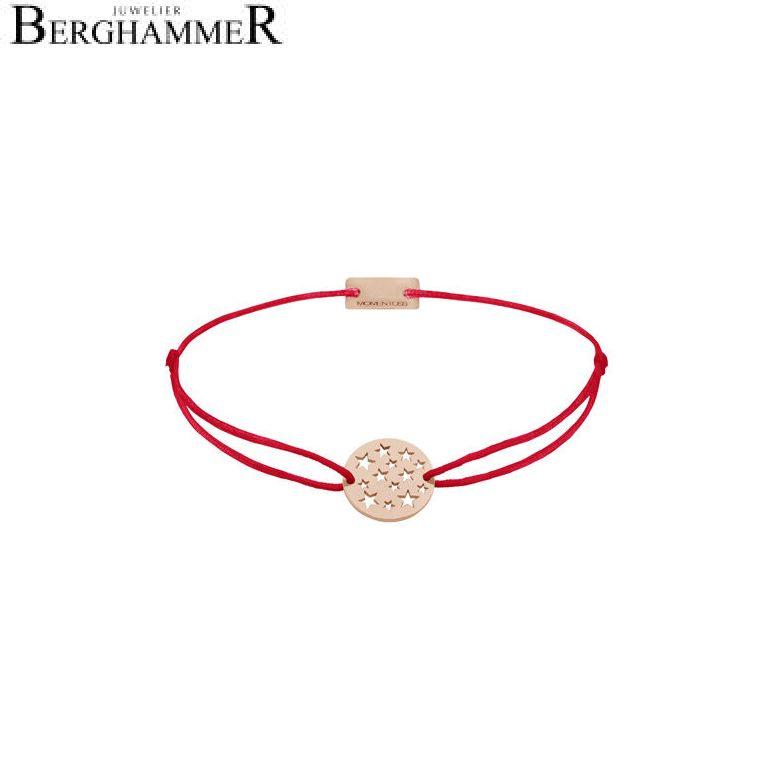 Filo Armband Textil Rot Sterne 925 Silber roségold vergoldet 21202646