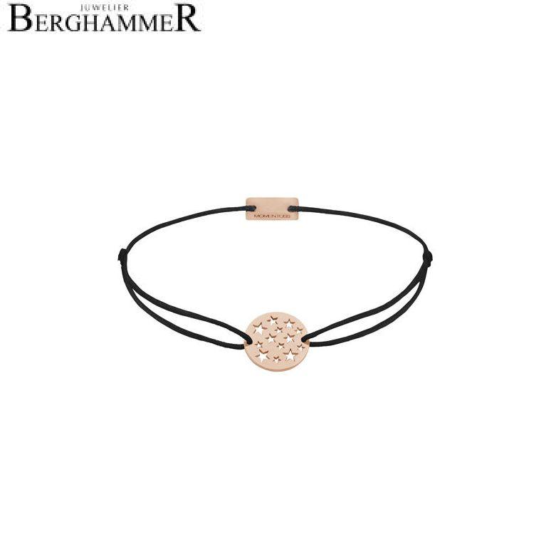 Filo Armband Textil Schwarz Sterne 925 Silber roségold vergoldet 21202647