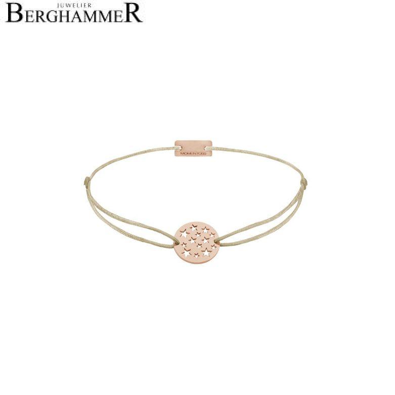 Filo Armband Textil Champagne Sterne 925 Silber roségold vergoldet 21202648